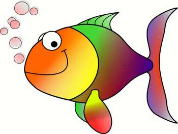 This is a free clipart picture of a cute colorful fish. The fish in this cartoon illustration is rainbow colored and happy. This image is provided by wpclipart.com. For terms of use please go to: http://www.wpclipart.com/about.html